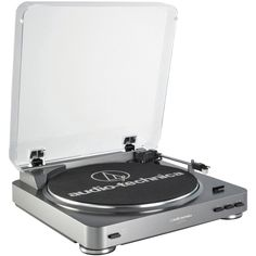 Audio-Technica AT-LP60 Record Turntable - Belt Drive - 33.33, 45 rpm Color: Silver.