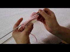 How to Knit - Different Stockinette Knit Stitch Pattern, Diy Abschnitt, Knitting Videos, Crochet Videos, Knitting Stitches, Baby Knitting, Knitting Patterns, Easy Crochet Patterns, Crochet Motif, Tunisian Crochet, Crochet Designs