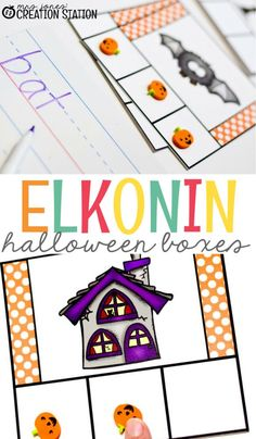 Super cute Halloween Elkonin boxes to help your students count the syllables in a word. These FREE printable Halloween Elkonin Boxes are perfect phoneme awareness or a syllable activity for your kindergarten classrooms. Use this as a festive Halloween-themed warm-up activity throughout the month of October. #freeprintable #halloween #fall #elkoninboxes #sylablecounting