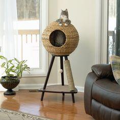 "44"" Sphere Scratch Post Cat Tree"