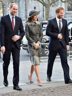 Princess Kate (in a Striking Hat!), Prince William and Prince Harry Join Queen Elizabeth for Service at Westminster Abbey