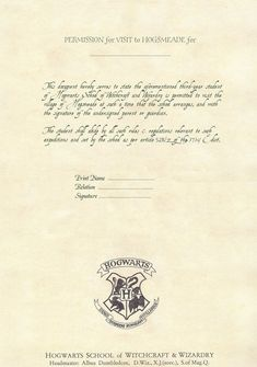 Harry Potter Diy Hogwarts Acceptance Letter HttpsWwwYoutube