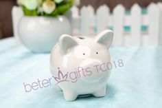 Free Shipping 50box Ceramic Mini-Piggy Money Saving Bank Favors TC018             http://aliexpress.com/store/product/Free-Shipping-100box-Pink-Flip-Flop-Bottle-Opener-wedding-bomboniere-WJ058-B/513753_1719869702.html  #weddingfavors #weddingideas #partydecoration #beachparty #summerparty #souvenirs #beterwedding  #bomboniere