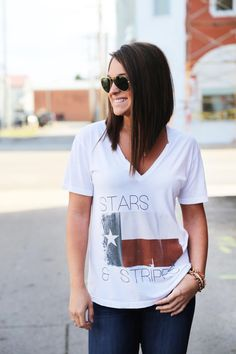 Stars & Stripes Graphic Tee from The Rage. Saved to Fashion+Style. Shop more products from The Rage on Wanelo.