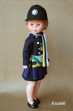 """Azafata""                                                                                                                                                                                 Más Nancy Doll, Spanish Girls, Barbie, Cute Dolls, American Girl, My Girl, Baby Dolls, Doll Clothes, Harajuku"