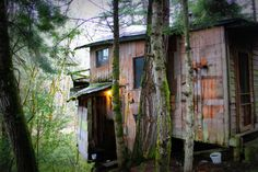 Cabin in Tenmile, Oregon. Built in the early 1970s with remnants of a home built in the late 1800s.