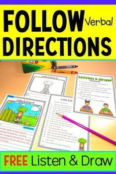 There are different activities with this idea to help see if students understand or comprehend what they're doing or reading. Listening Activities For Kids, Social Skills Activities, Active Listening, Comprehension Activities, Listening Skills, Speech Therapy Activities, Language Activities, Play Therapy, Listening Games