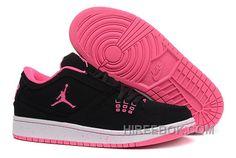 d82f4d975c979 Girls Air Jordan 1 Low Black Pink Shoes Top Deals 5EaGs