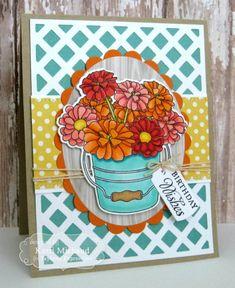 Birthday Wishes Card by Kerri Michaud #Petite Boutquet, #Cardmaking, #Birthday, #CuttingPlates
