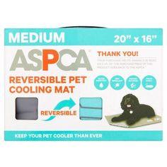 Aspca Medium Teal Reversible Pet Cooling Mat, Black