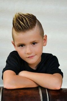 Boys wish to rock a mohawk hairstyle will look attractive and cool. The most essential thing you must do within this style is to create sure your son receives the suitable cut. Given below are some other fantastic mohawk haircut ideas for children. Kids Hairstyles Boys, Toddler Boy Haircuts, Little Boy Haircuts, Trendy Haircuts, Hairstyles Haircuts, Haircuts For Men, Boy Haircuts Short, Sweet Hairstyles, Braided Hairstyles