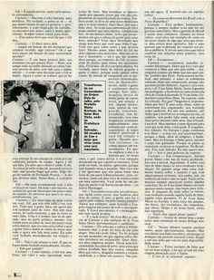 """""""Caetano-Gil - Uma Amizade em Technicolor"""" - entrevista na revista """"Manchete"""" de 1986 - página 2/2."""