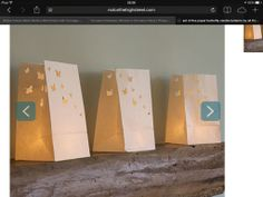 Love these simple paper and LED lanterns, very pretty