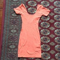 Orange American Apparel dress Washed once, never worn. American Apparel Dresses Backless