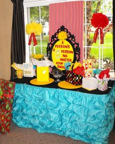 A person's a person no matter how small – Dr Seuss inspired baby shower via baby shower ideas and supplies gender neutral, gender reveal, boys, girls, birthday party ideas
