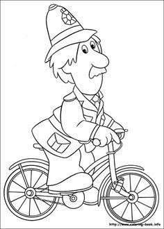 Postman Pat coloring picture
