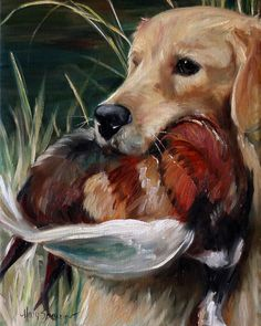 Hunting Dog Print featuring the painting Hung by Mary Sparrow