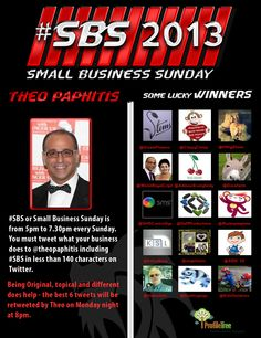 """#sbs Small Business Sunday by @TheoPaphitis"" Some of the great winners of #sbs by Theo Paphitis - Have you a small business on Twitter? Have you promoted it using the #sbs ? If so - tell us about it here https://www.profiletree.com/blogs/what-does-sbs-mean-for-small-business-on-twitter  #smallbusiness #twitter #marketing #advertising https://www.profiletree.com/blogs/what-does-sbs-mean-for-small-business-on-twitter"