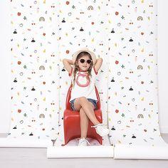 The home of bold & beautiful wallpaper in Australia. Kids Bedroom, Bedroom Ideas, Colorful Wallpaper, Designer Wallpaper, Primary Colors, Doodles, Australia, Colours, Children