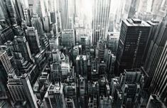 New Cityscapes in Motion Painted by Valerio DOspina