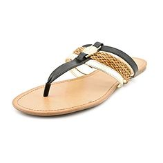 f76c2cc1344d92 Tommy Hilfiger Liz Women US 10 Black Thong Sandal     See this great product