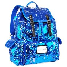 Betseyville Sequin Backpack - Betseyville Blue Sequins Backpacks For Girls
