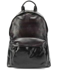 Officine Creative Plain Backpack In Black Officine Creative, Black Backpack, Brand You, Women Wear, Mens Fashion, Backpacks, Zip, Leather, Fashion Design