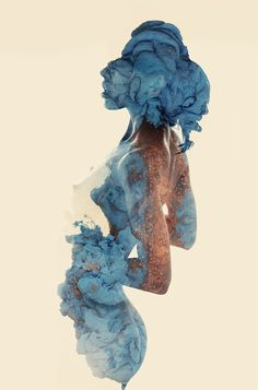Two woman, one texture, three colours by Alberto Seveso, via Behance