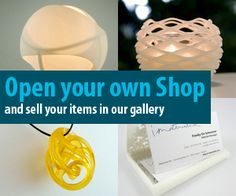 iMaterialise is another on demand 3D printing service that also lets you open shop similarly to Shapeways.