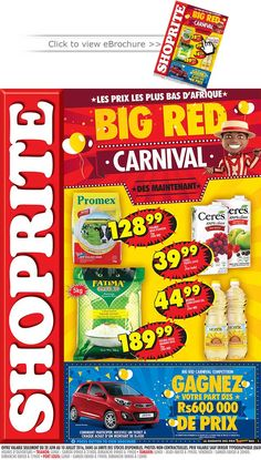 SHOPRITE Hyper - eBrochure: BIG RED Carnival. Du 20 Juin au 10 Juillet 2016