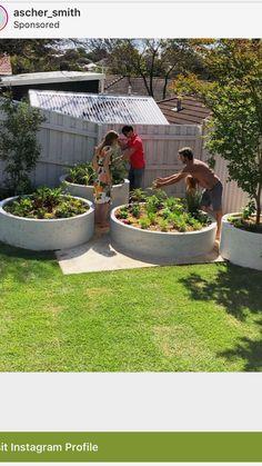 Edible Garden, Garden Planters, Vegetable Garden, Back Gardens, Outdoor Gardens, Australian Native Garden, Farmhouse Garden, Backyard Garden Design, Outdoor Landscaping