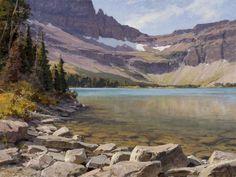 "Clyde Aspevig ""Old Man Lake, Glacier National Park"" inches, oil"