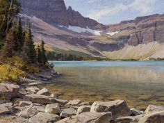 "Clyde Aspevig  ""Old Man Lake, Glacier National Park""  30x40 inches, oil"