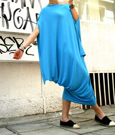 Oversize Aqua Blue Dress / Loose Casual Top / by Aakasha on Etsy