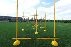 The Coaching Sticks Performance Pack includes enough accessories to make a full obstacle course for your players. Blue Yellow, Red And Blue, Soccer Workouts, Obstacle Course, Workout For Beginners, Sticks, Coaching, Accessories, Teen Games
