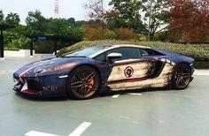 Captain America — full graphics wrap Lamborghini Aventador