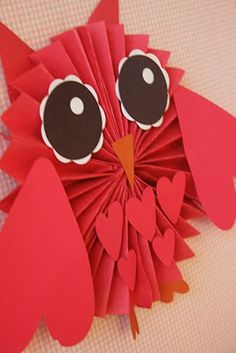 cute paper owl...one of a kind valentine?? ;)