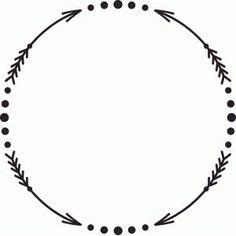 Circle Arrow Clip Art Monogram