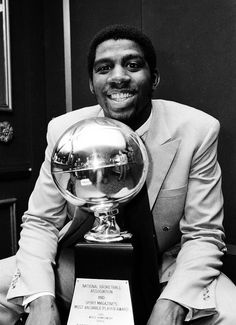 Basketball icon Magic Johnson in his rookie year