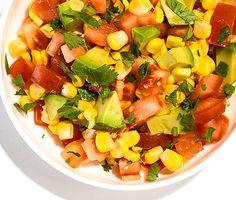 Tomato, Corn, and Avocado Salsa