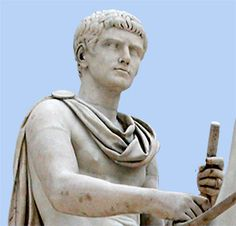 Augustus was the founder of the Roman Empire and its first Emperor, ruling from 27 BC until his death in 14 AD.  Born: 63 BC, Rome  Died: August 19, 14 AD, Nola.  Wikipedia