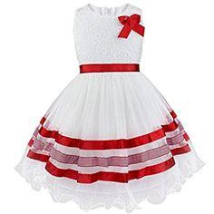 FEESHOW Girl Sleeveless Embroidery Flower Bodice Tutu Dress