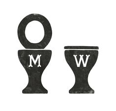 bathroom signs by simon walker