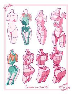 인체를 보다 쉽게 이해해보자! 라는 취지로 그려본 그림들 | Daum 루리웹