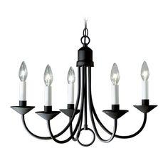 Progress Chandelier in Textured Black Finish | P4008-31 | Destination Lighting