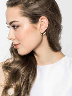 Pavé Halo Ear Jackets