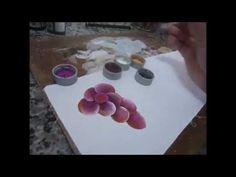 PAP COMO PINTAR UVAS - how to paint grapes - cómo pintar las uvas - YouTube
