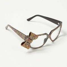 I think I need to make these Glitter Bow Frames prescription... For fancy occasions.