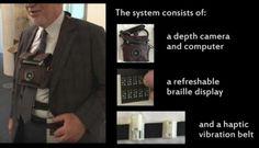 Diseñan un sistema de navegación portátil para personas con discapacidad visual