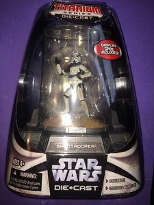 Star Wars Titanium Die Cast Sandtrooper w Display Case 2006 | eBay